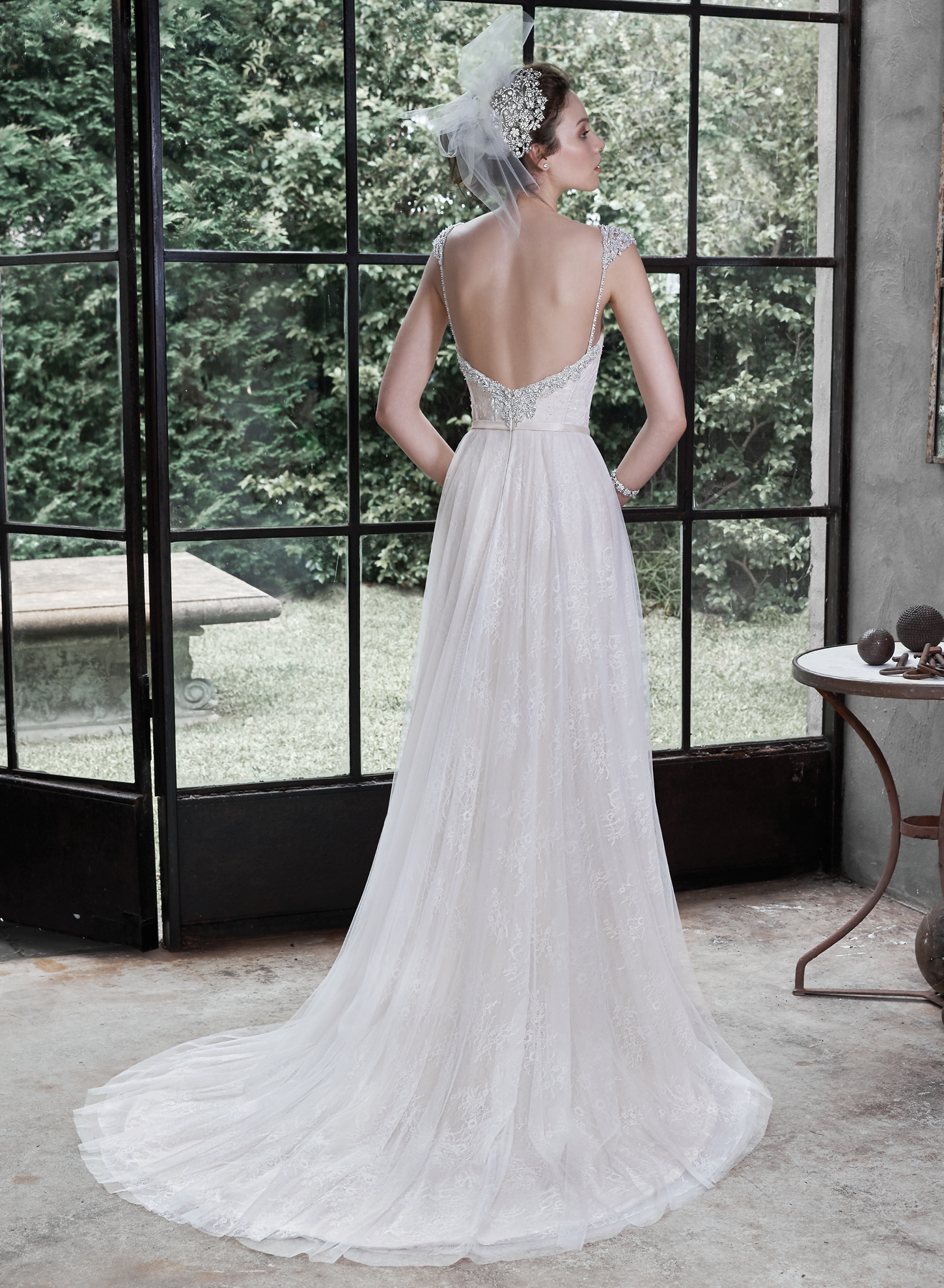 Maggie sottero alanis catrinas bridal for Maggie sottero short wedding dress