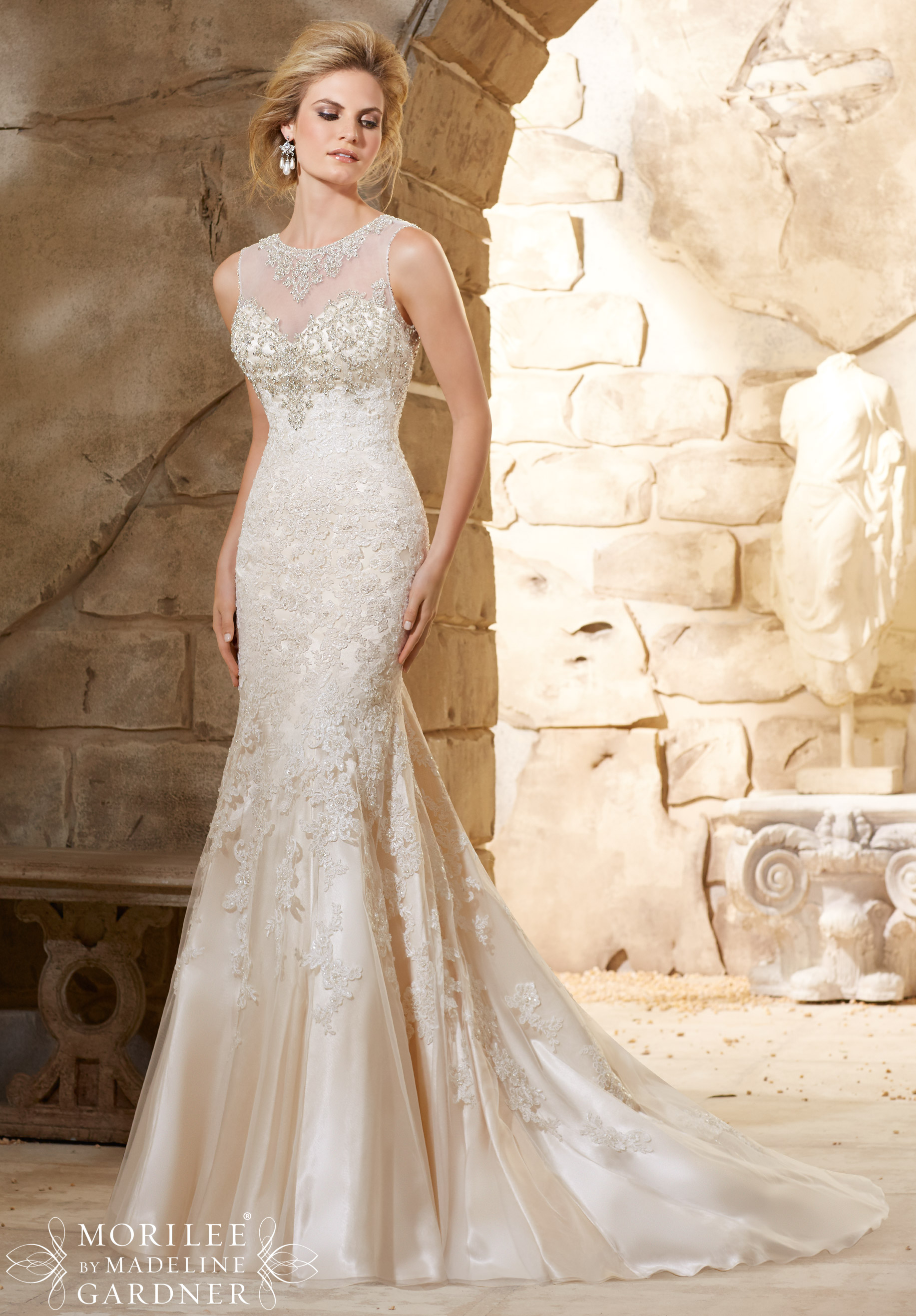 Image Result For Plus Size Fit And Flare Wedding Dresses With Sleeves