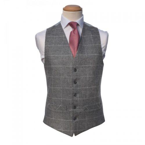 Tweed silver Ivory Waistcoat
