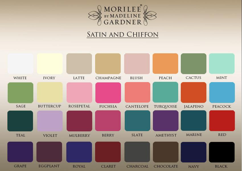 satin/chiffon colour cart