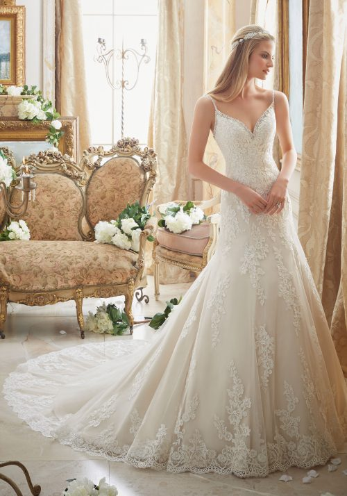 Mori lee 2883 wedding dress