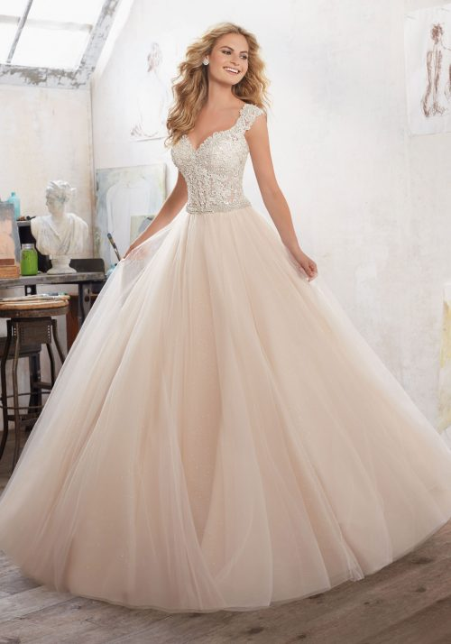 Mori lee 8126 Marigold wedding dress