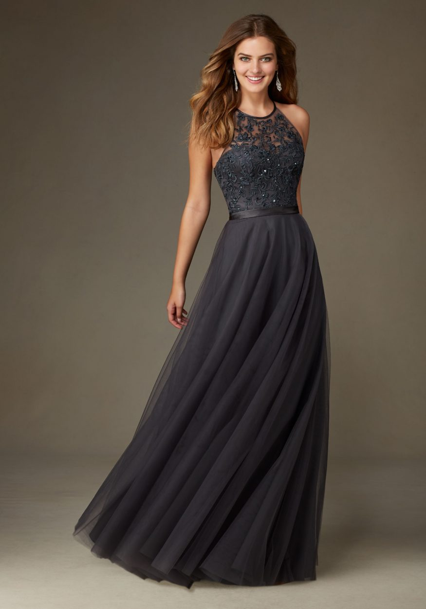 Elegant Chiffon Bridesmaid Dress Featuring a Beaded and