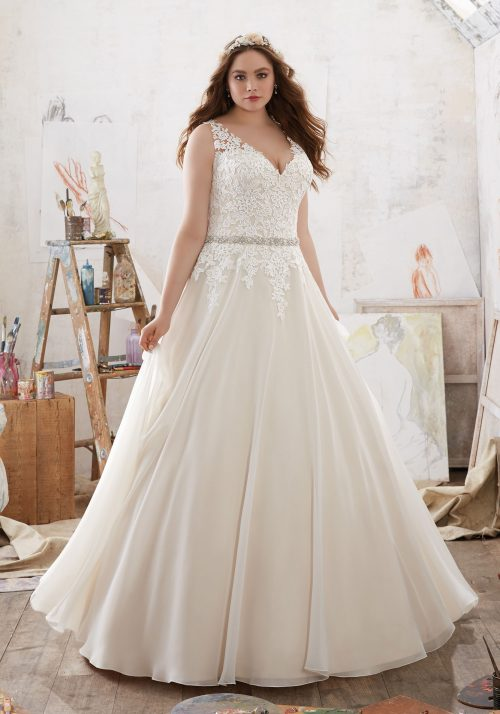 Mori lee 3214 Michelle wedding dress