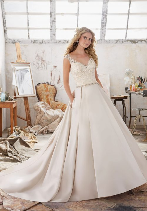 Mori lee 8103 Maclaine wedding dress