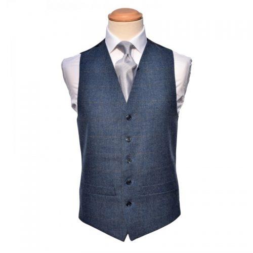 Tweed blue Grey Waistcoat